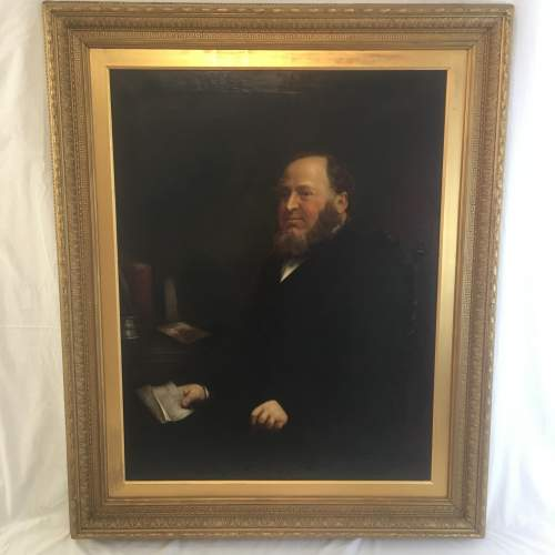Fine 19th Century  Oil Painting Portrait of a Seated Gentleman image-2