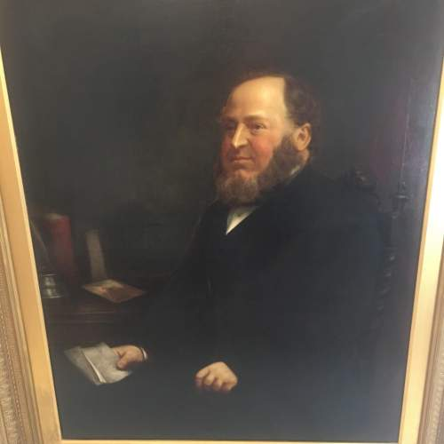 Fine 19th Century  Oil Painting Portrait of a Seated Gentleman image-3