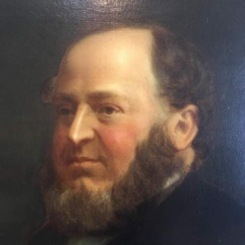 Fine 19th Century  Oil Painting Portrait of a Seated Gentleman image-5