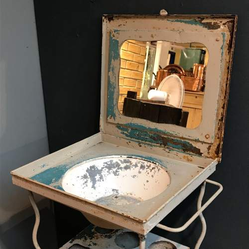 Vintage French Metal Washstand image-2
