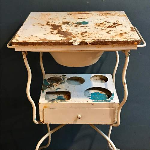 Vintage French Metal Washstand image-6