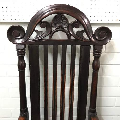 18th Century Carved Oak Carver Chair image-2
