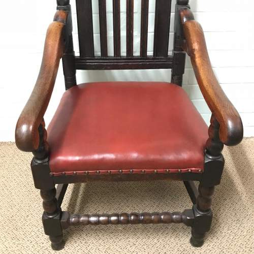 18th Century Carved Oak Carver Chair image-3