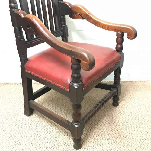 18th Century Carved Oak Carver Chair image-4