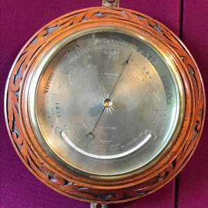 Fine Victorian Barometer by J Brown of Glasgow