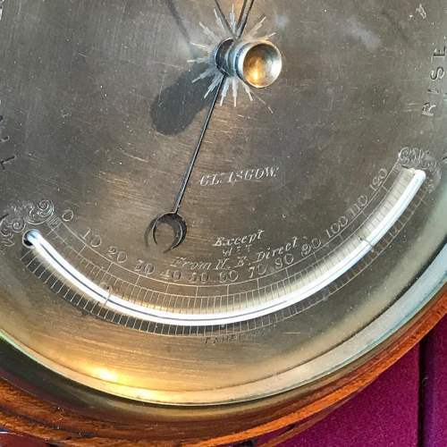 Fine Victorian Barometer by J Brown of Glasgow image-4