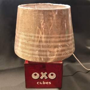 Vintage Oxo Tin Table Lamp