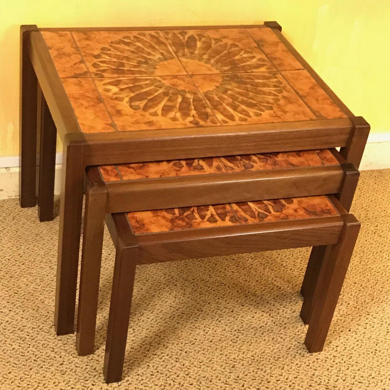 Strange 1970S Retro Teak Nest Of Tables Pdpeps Interior Chair Design Pdpepsorg