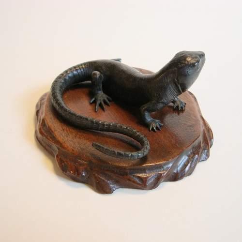 Cast Bronze Lizard image-3