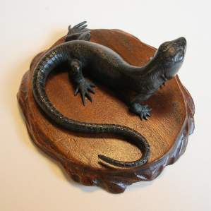 Cast Bronze Lizard