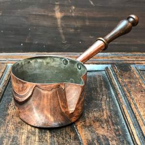 Small 19th Century Copper Pouring Pan