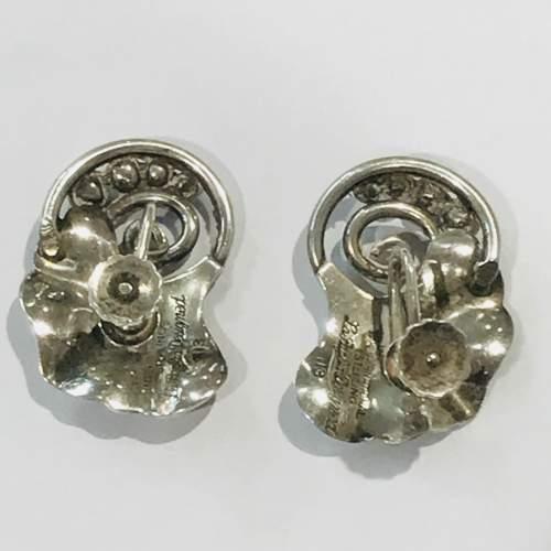 Sterling Silver La Paglia Screw Back Earrings image-2