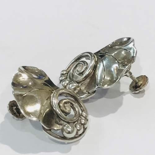 Sterling Silver La Paglia Screw Back Earrings image-3