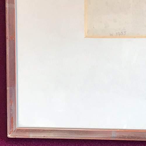 Original 20th Century Pencil Portrait of a Man image-3