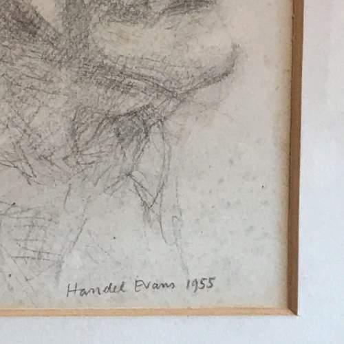Original 20th Century Pencil Portrait of a Man image-4