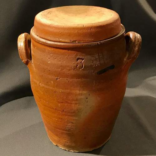 19th Century French Salt Glazed Pickle Pot image-1