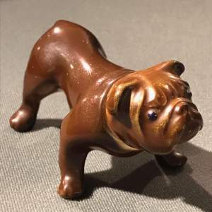 Ceramic Decanter in the form of a Bulldog