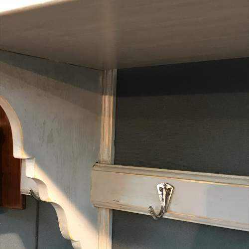 1930s Vintage French Grey Painted Pine Pot Shelf image-3