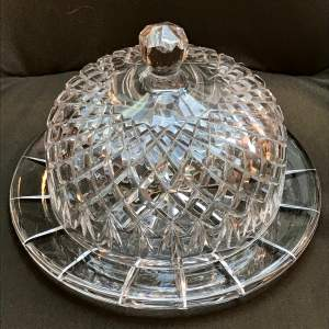 Lead Crystal Dome Topped Cheese Dish