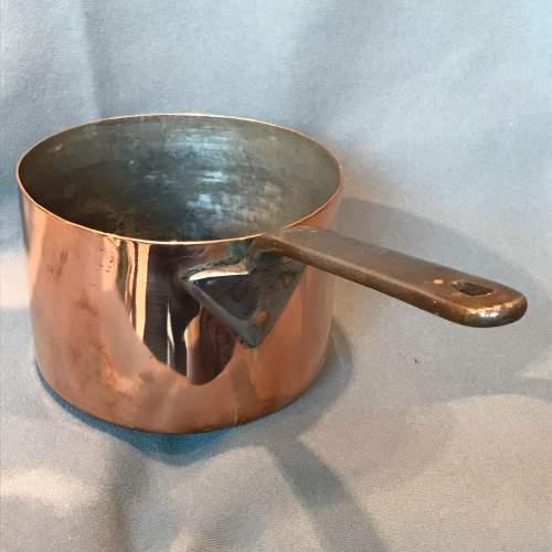 Set of Three Victorian Copper Saucepans image-3