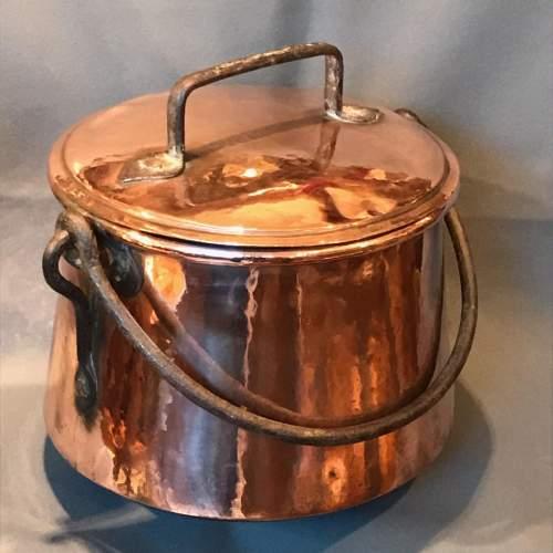 Arts and Crafts Copper Cauldron image-1