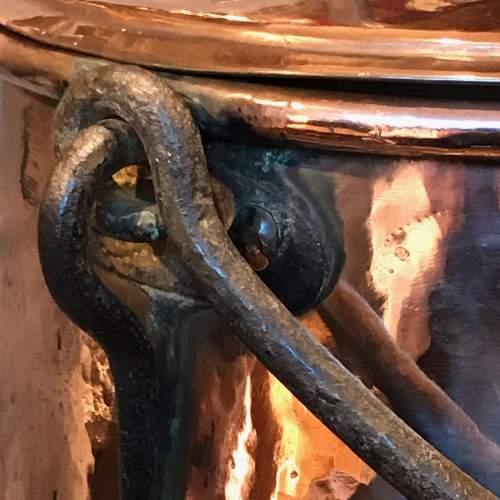Arts and Crafts Copper Cauldron image-3
