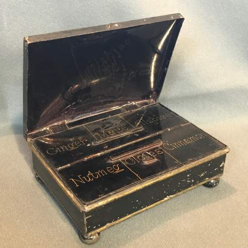 Early 19th Century Toleware Spice Box image-1