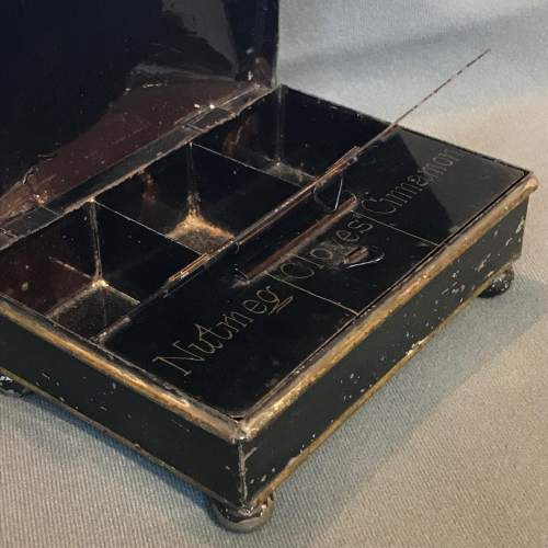 Early 19th Century Toleware Spice Box image-3