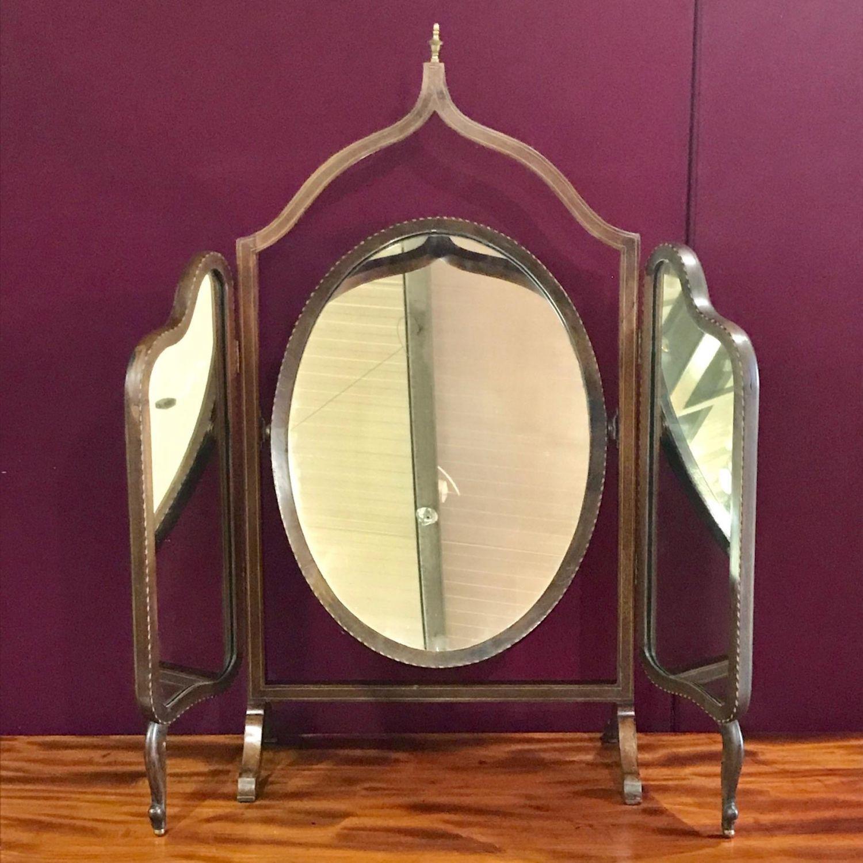 more photos 786bb 590d6 Edwardian Inlaid Mahogany Dressing Table Mirror