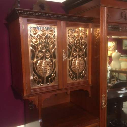 Arts and Crafts Shapland and Petter Walnut Wardrobe image-2