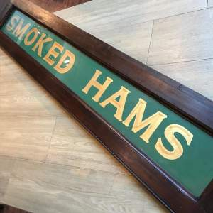 Edwardian Butchers Smoked Ham Shop Sign