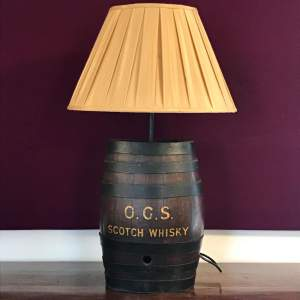 Antique Scotch Whisky  Barrel Lamp