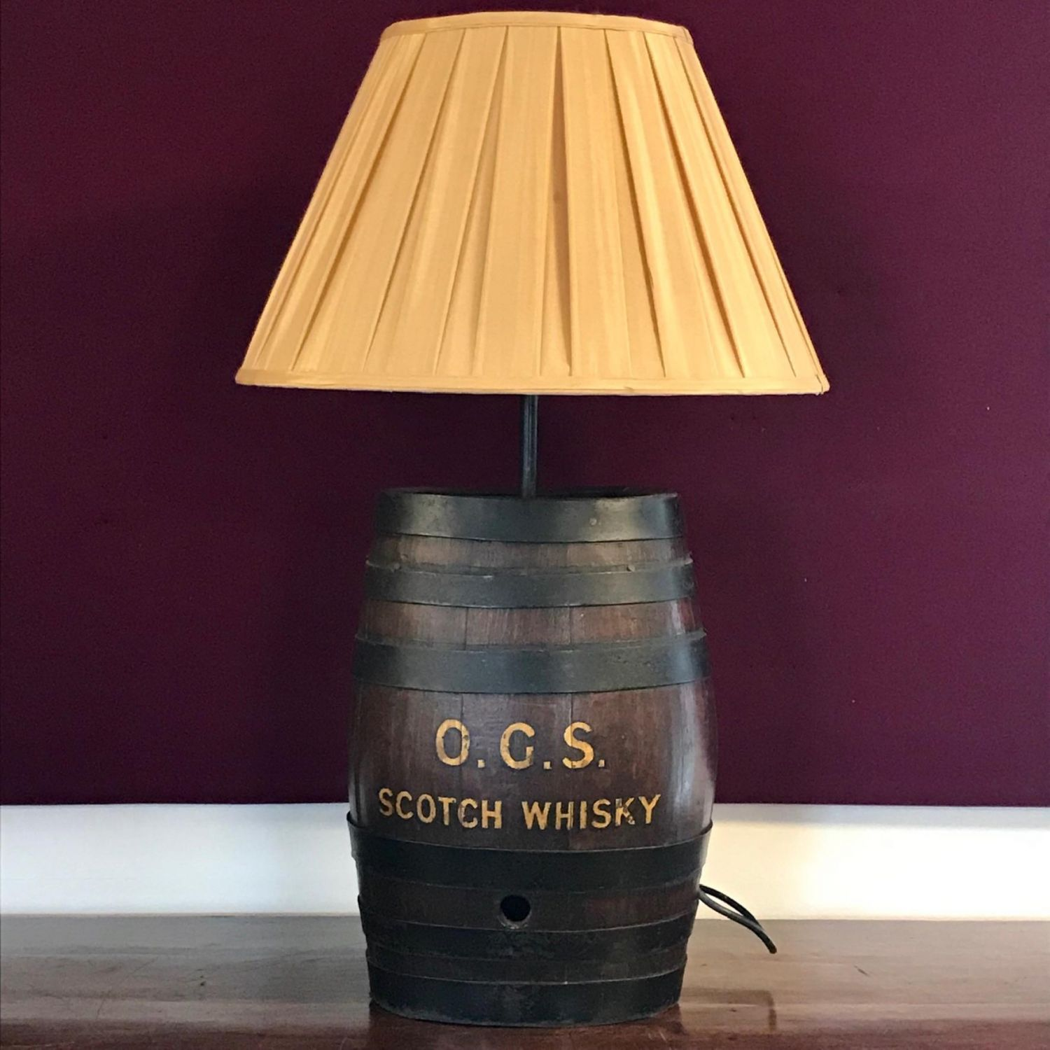 Antique Scotch Whisky Barrel Lamp