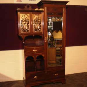 Arts and Crafts Shapland and Petter Walnut Wardrobe