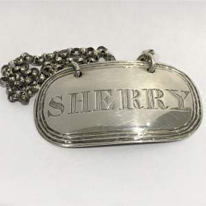 Early Victorian Silver Sherry Label