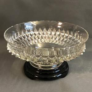 Bagley English 1930s Clear Glass Bowl