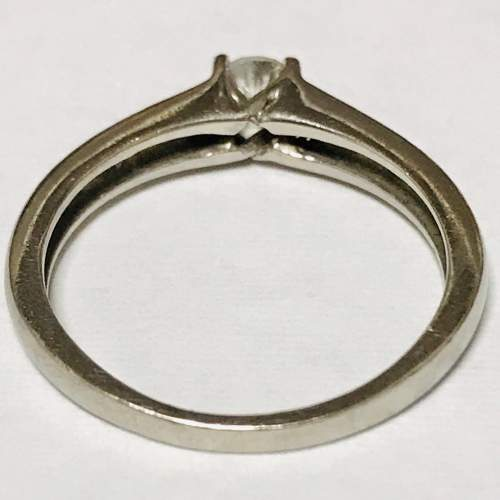 18ct White Gold Diamond Solitaire Ring image-4