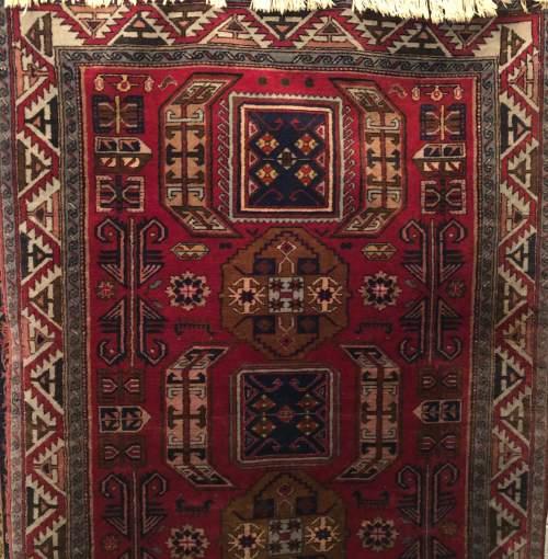Superb Old Hand Knotted Tribal Caucasian Kazak image-1