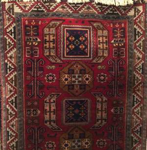 Superb Old Hand Knotted Tribal Caucasian Kazak
