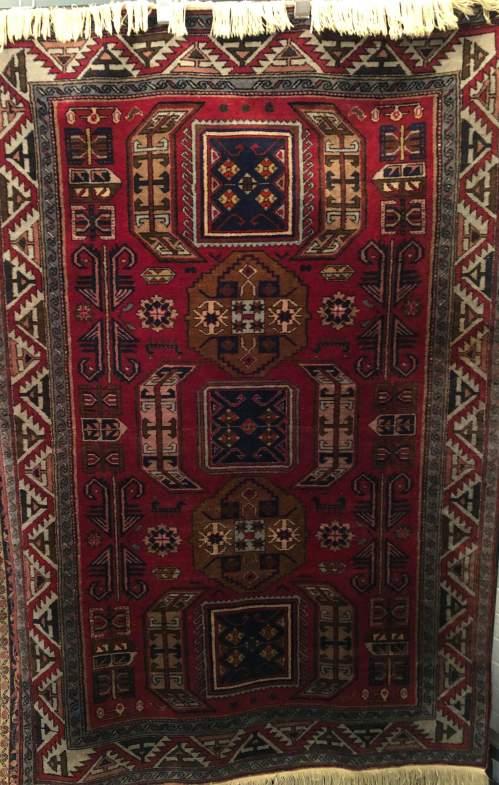 Superb Old Hand Knotted Tribal Caucasian Kazak image-5