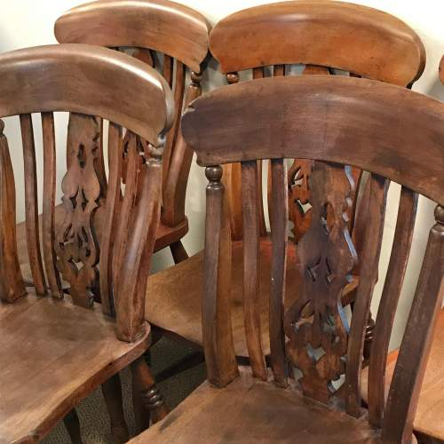A Good Set Of Five Late 19th Century Country Chairs image-2