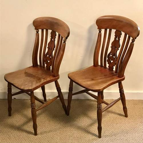 A Good Set Of Five Late 19th Century Country Chairs image-3