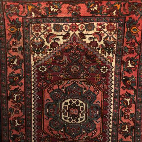 Old Hand Knotted Persian Rug Hamadan image-1