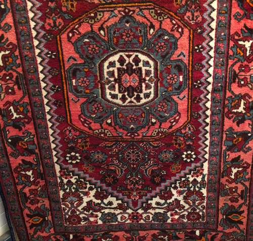 Old Hand Knotted Persian Rug Hamadan image-2