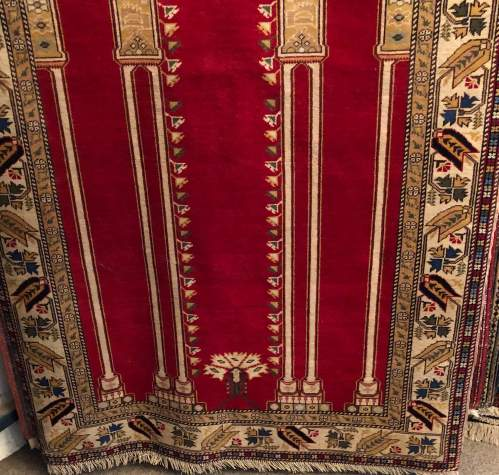 Superb Old Hand Knotted Turkish Rug Kayseri image-2