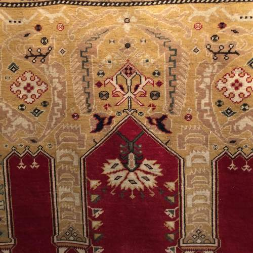 Superb Old Hand Knotted Turkish Rug Kayseri image-3