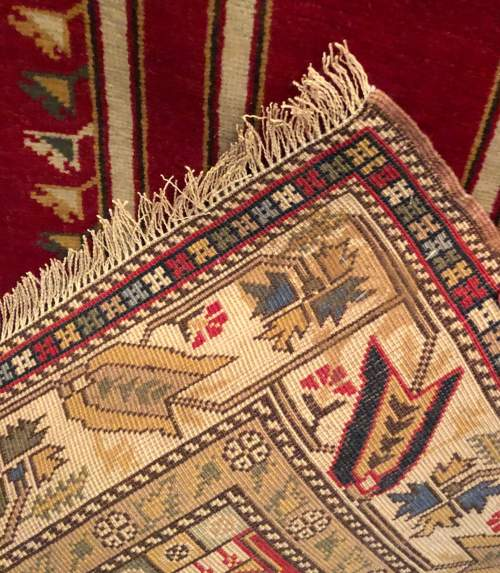 Superb Old Hand Knotted Turkish Rug Kayseri image-5