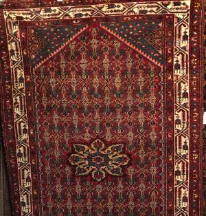 Old Hand Knotted Persian Rug Hamadan Region