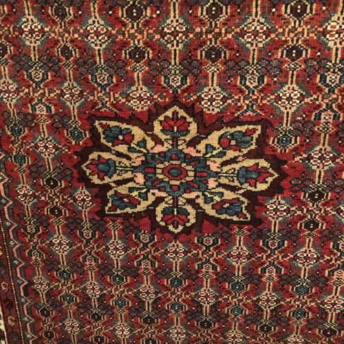 Old Hand Knotted Persian Rug Hamadan Region image-3