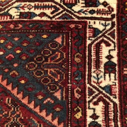 Old Hand Knotted Persian Rug Hamadan Region image-4